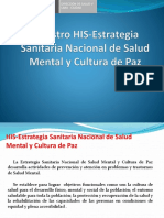 Registro HIS en Salud Mental