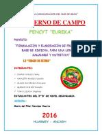 CUADERNO de CAMPO-final Ugel-kiwicha