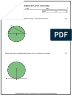 Revision 5 Circle Theorems