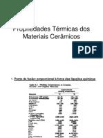 Propriedades Térmicas Dos Materiais Cerâmicos
