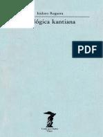 Isidoro Reguera - La Lógica Kantiana