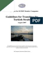 OCIMF Guide Turkist Straits