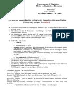 Normas de Presentación de Trabajos de Analisis