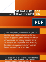The Moral Issue of Artificial Insemination