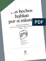 Informe Preliminar Sobre Los Desaparecidos en Honduras 1980 1993