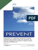 Protocolo de Estudio Para Un Ensayo Controlado Randomizado Comparando La Terapia Cognitiva Mental vs La Terapia Antidepresiva