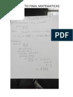 Semana 9 Proyecto Final Matematicas