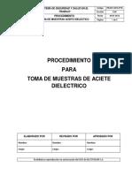 Toma de Muestras Aceite Dieléctrico