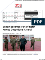 20170930 Bitcoin Becomes Part of North Korea's Geopolitical Arsenal _ OilPrice