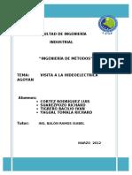 153325237 Informe de Visita a La Hidroelectrica Agoyan
