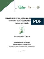 1.Memorias Primer Encuentro de Bosques Ecuador 08 JUNIO 2015