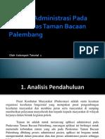Aplikasi Administrasi Pada Puskesmas Taman Bacaan Palembang