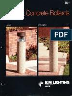 Kim Lighting B31 Precast Concrete Bollard Brochure 1987