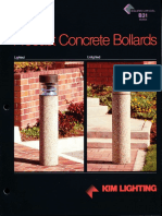 Kim Lighting B31 Precast Concrete Bollard Brochure 1993