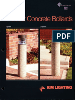 Kim Lighting B31 Precast Concrete Bollard Brochure 1994