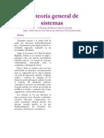 La Teoría General de Sistemas - Algunos Principios