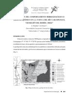 EVALUACIÓN DEL COMPORTAMIENTO HIDROGEOLÓGICO E HIDROGEOQUÍMICO EN LA CUENCA DEL RÍO CARAMPANGUE, VIII REGIÓN DEL BIOBÍO, CHILE
