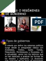 FORMAS O RÉGIMENES DE GOBIERNO