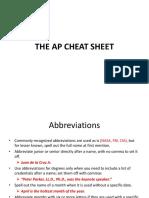 The AP Cheat Sheet