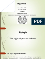 The right of private defense