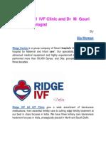 Ridge IVF IUI IVF Clinic and Dr M Gouri Devi Gynecologist