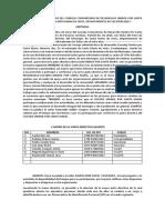 Transcripción de Acta Constitutiva de Consejo de Desarrollo
