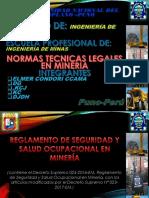 NORMAS TÉCNICAS LEGALES EN MINERÍA