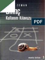 Adam Zeman - Bilinç Kullanım Kılavuzu