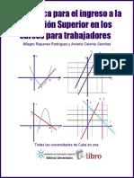 Matemática Para El Ingreso a La Educación Superior en Los Cursos Para Trabajadores - Riquenes Rodríguez