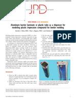 Aluminum Barrier Laminate or Plastic Tube as a d