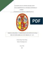 Instituto Cultural Peruano Norteamericano Cusco Periodo 2017-2021