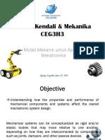 Lecture 4 - Model Mekanik