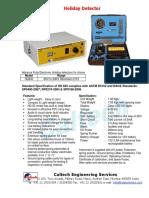 Caltech- Holiday Detector HD830