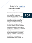 Análisis de La Política de Aristóteles