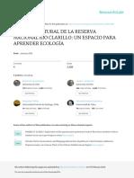Historia Natural de La Reserva Nacional Rio Claril
