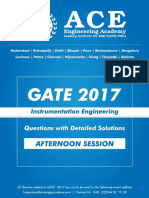 Instrumentation GATE 2017 Paper INST