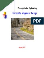 Horizontal Alignment I