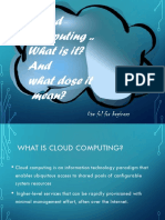 Cloud Computing what is it? and what does it mean?