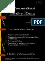 Factores Retentivo Biofilm e Índices