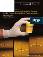 is dextromethorphan a concern for causing  a false positive during urine drug screening