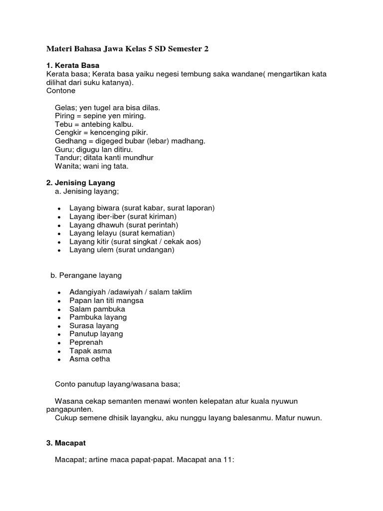 Materi Bahasa Jawa Kelas 9 Guru Galeri