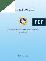 Quarterly Financial    Statistics Bulletin (Volume i 2016)