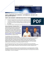 Technology Pioneers Press Release Final