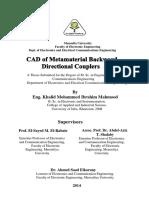 CAD of Metamaterial Directional Coupler
