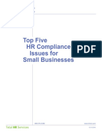 Top 5 HR Compliance Issues for Small Businesses_By TriNet[1]