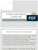 Cities and Urban Land Use Notes