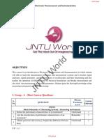 Electronic Measurements and Instrumentation QB