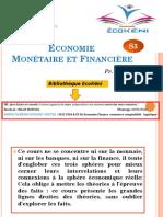Cours Baddih Economie Monetaire S3