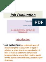 ppt on Job Evaluation by manoj singla