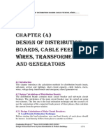 Chapter (4) Design of Distribution Boards, Cable Feeders, Wires, Transformers and Generators